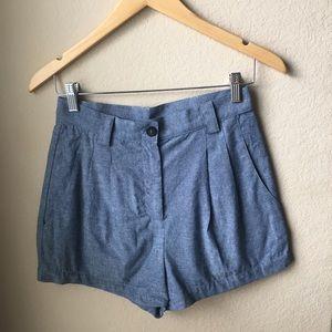 American Apparel Chambray Cheeky Shorts